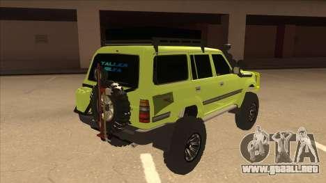 Toyota Land Cruiser para la visión correcta GTA San Andreas