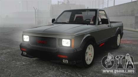 GMC Syclone 1992 para GTA 4