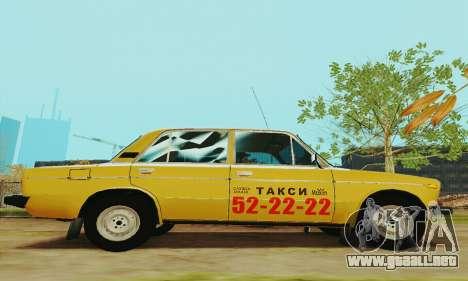 Taxi 2106 VAZ para GTA San Andreas vista hacia atrás