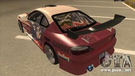 S15 K-ON Itasha para GTA San Andreas vista hacia atrás