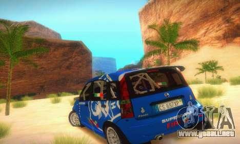 Fiat Panda Rally para la visión correcta GTA San Andreas