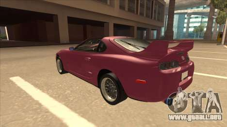 Toyota Supra MKIV para GTA San Andreas vista hacia atrás