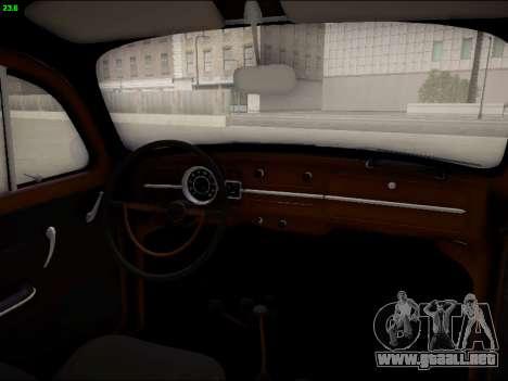 Volkswagen Beetle para la vista superior GTA San Andreas
