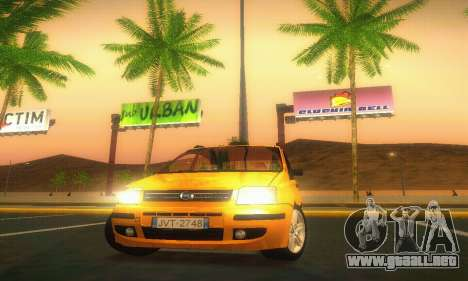 Fiat Panda Taxi para visión interna GTA San Andreas