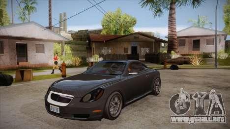 Lexus SC430 2JZ-GTE Black Revel para visión interna GTA San Andreas