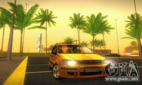 Fiat Panda Taxi para GTA San Andreas vista hacia atrás