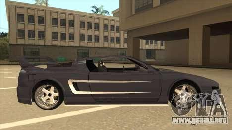 DoTeX Infernus V6 History para GTA San Andreas vista posterior izquierda