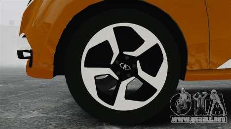 Lada XRay Concept para GTA 4 vista hacia atrás