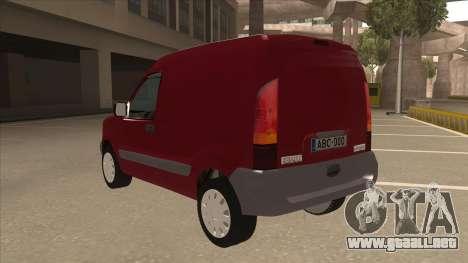 RENAULT KANGOO v1 para GTA San Andreas vista hacia atrás