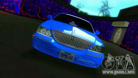Lincoln Town Car Tuning para GTA Vice City left