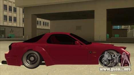Mazda RX7 FD3S Rocket Bunny para GTA San Andreas vista posterior izquierda