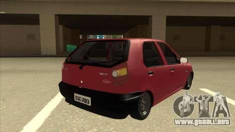 1997 Fiat Palio EDX Edit para la visión correcta GTA San Andreas