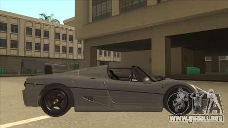Ferrari F50 GT TT Black Revel para GTA San Andreas vista posterior izquierda