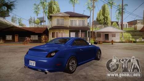 Lexus SC430 2JZ-GTE Black Revel para la visión correcta GTA San Andreas