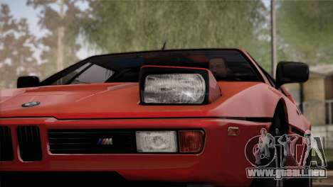 BMW M1 (E26) 1979 para GTA San Andreas interior