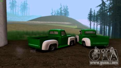 GAZ 53 para GTA San Andreas vista posterior izquierda