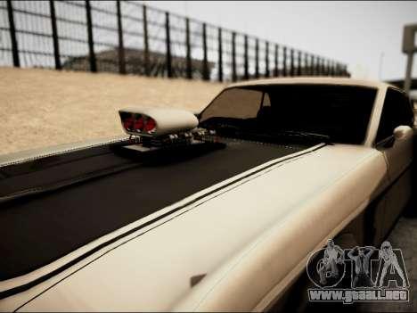 Ford Mustang Boss 302 1969 para GTA San Andreas vista hacia atrás