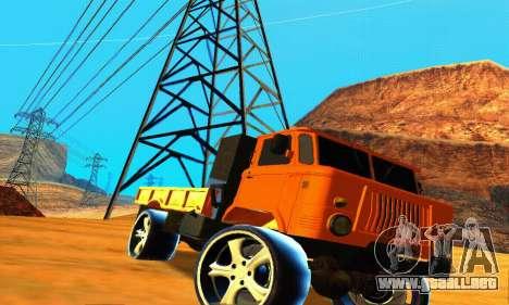 GAZ 66 Cáucaso para visión interna GTA San Andreas