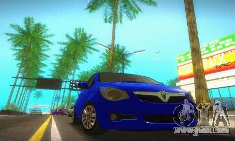 Vauxhall Agila 2011 para GTA San Andreas vista posterior izquierda
