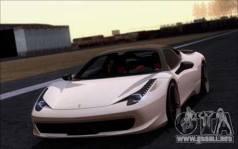 Ferrari 458 Italia Novitec Ross para GTA San Andreas