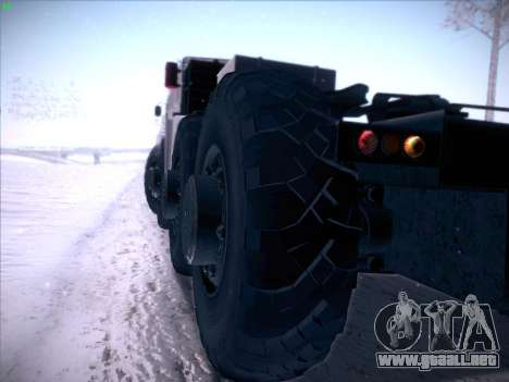 MAZ 537 para visión interna GTA San Andreas
