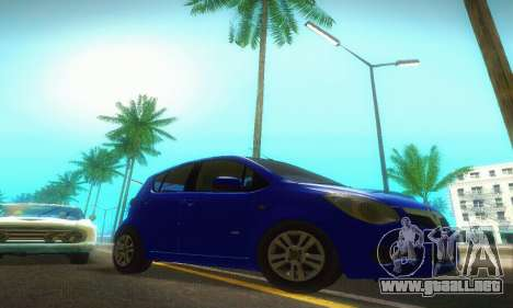 Vauxhall Agila 2011 para GTA San Andreas vista hacia atrás