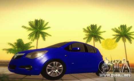 Vauxhall Agila 2011 para GTA San Andreas left