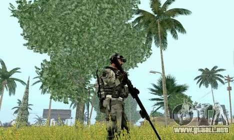 Barrett M82 de batalla 4 para GTA San Andreas tercera pantalla