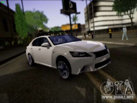 Lexus GS 350 para la vista superior GTA San Andreas