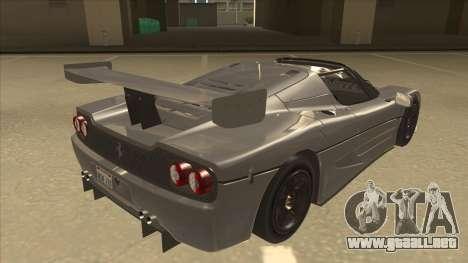 Ferrari F50 GT TT Black Revel para la visión correcta GTA San Andreas