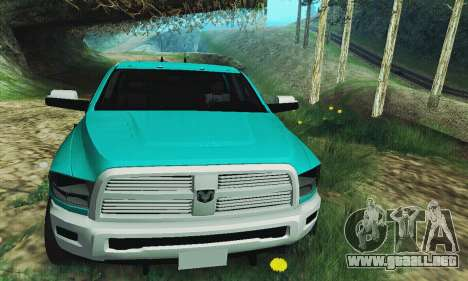 Dodge Ram 2500 HD para GTA San Andreas vista hacia atrás