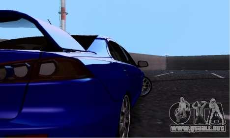 Mitsubishi Lancer Evo Drift Edition para GTA San Andreas vista hacia atrás