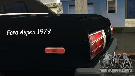 Ford Aspen 1979 para GTA San Andreas vista hacia atrás