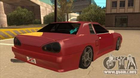 Elegy240sx Street JDM para la visión correcta GTA San Andreas