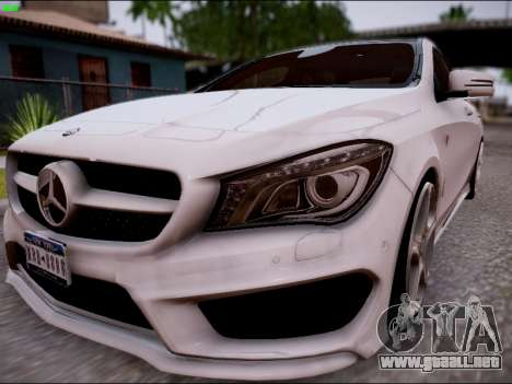 Mercedes-Benz CLA 250 para GTA San Andreas vista posterior izquierda