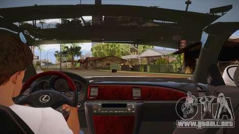 Lexus SC430 2JZ-GTE Black Revel para el motor de GTA San Andreas