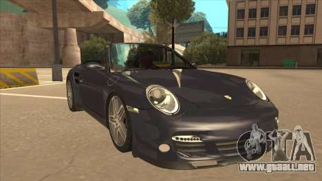 Porsche 911 Turbo Cabriolet 2008 para GTA San Andreas left