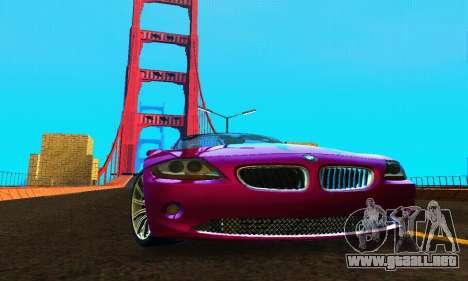 BMW Z4 2005 para GTA San Andreas vista hacia atrás