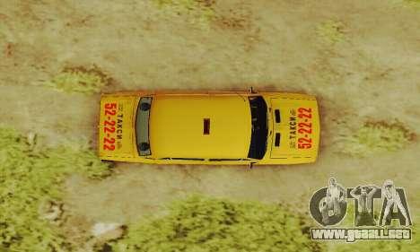 Taxi 2106 VAZ para vista lateral GTA San Andreas