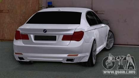 BMW 750i FSB para GTA San Andreas vista posterior izquierda