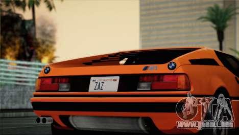 BMW M1 (E26) 1979 para GTA San Andreas