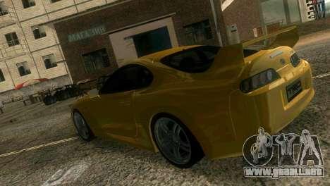 Toyota Supra TRD para GTA Vice City vista interior