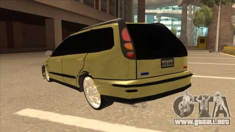 Fiat Marea Weekend para GTA San Andreas vista hacia atrás