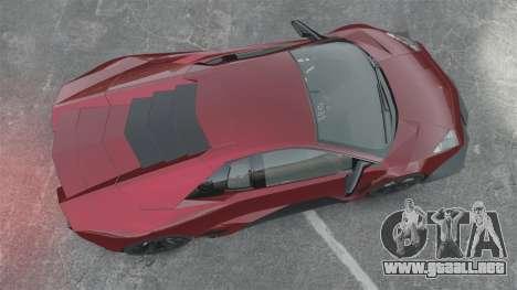 Lamborghini Reventon Body Kit Final para GTA 4 visión correcta