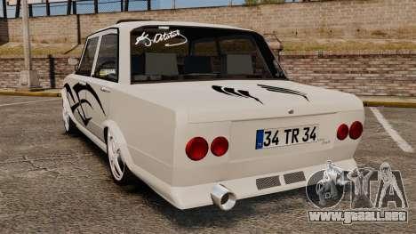 Fiat 124 Tuning para GTA 4 Vista posterior izquierda