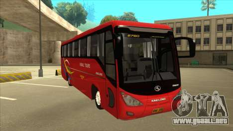 KINGLONG XMQ6126Y - Rural Tours 2780 para GTA San Andreas left