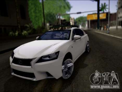 Lexus GS 350 para vista inferior GTA San Andreas