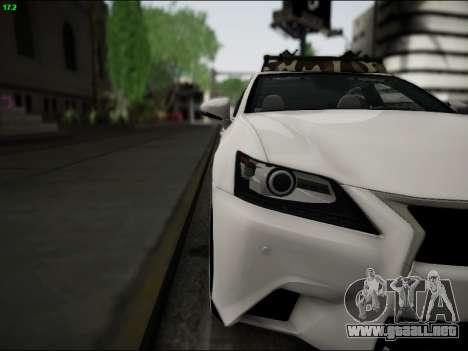 Lexus GS 350 para visión interna GTA San Andreas