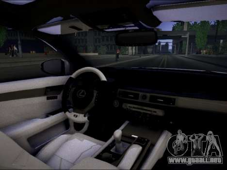 Lexus GS 350 para GTA San Andreas vista posterior izquierda
