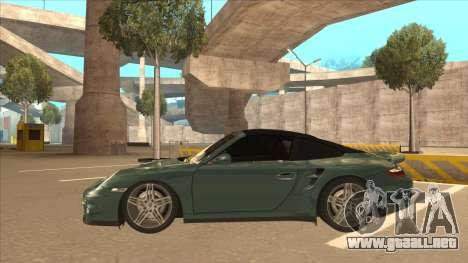 Porsche 911 Turbo Cabriolet 2008 para visión interna GTA San Andreas